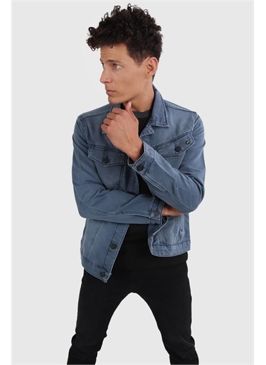 Twister Slim Fit Jean Ceket, Mavi (J40-05) Mavi